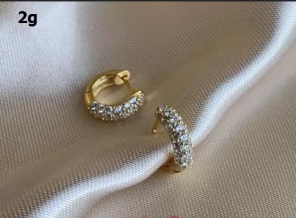 Light Weight Gold Earrings