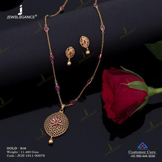 Simple gold chain design