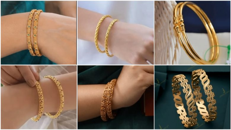 Trendy and classy gold bangles
