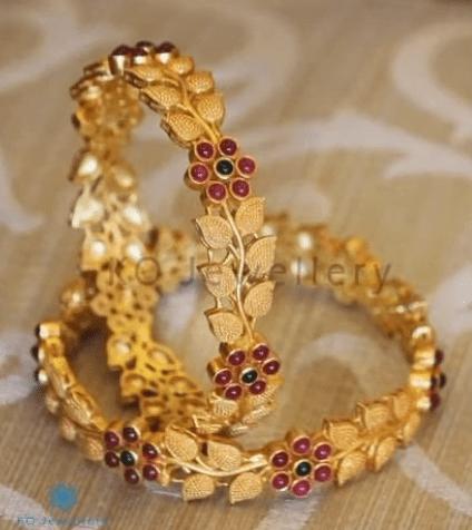 classy gold bangles
