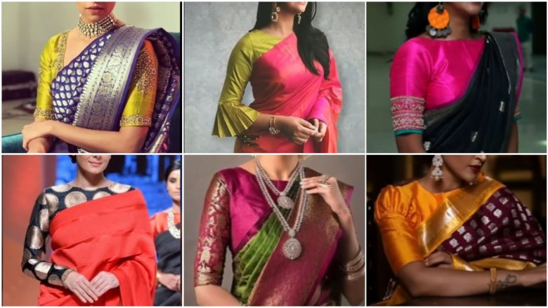 Latest silk saree blouse designs