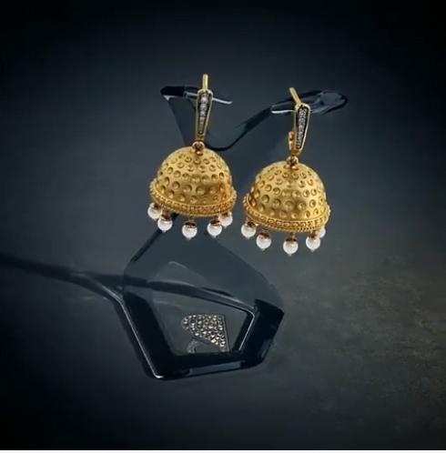 gold jhumka designs