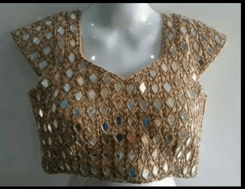 short sleeve saree blouse