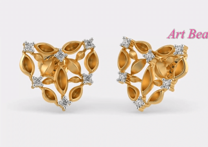 Light Weight Small Gold Earrings