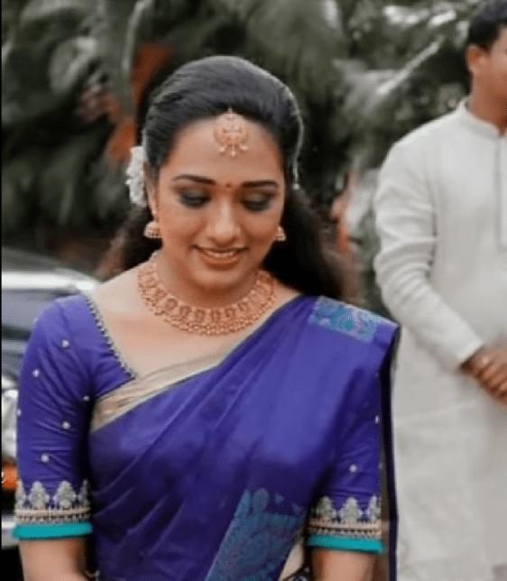 designer saree with blouse design