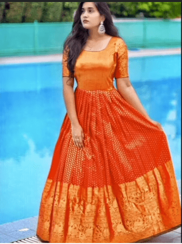Old saree gown ideas