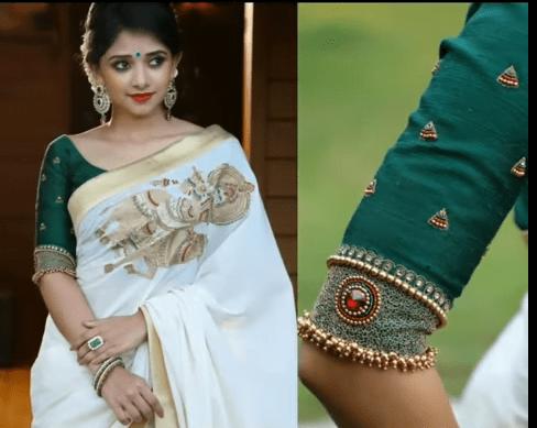 elbow length sleeve blouse