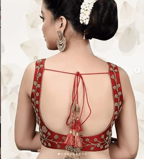 Blouse back neck design