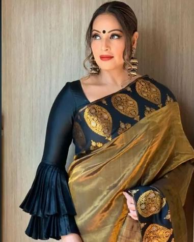 Pattu saree blouse design