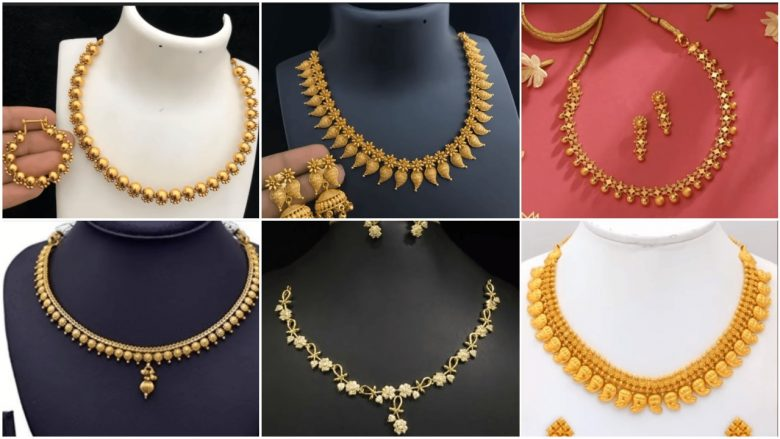 Latest simple gold necklace designs