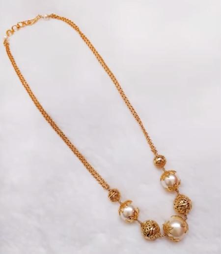 gold necklace design