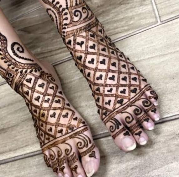 Foot mehndi design