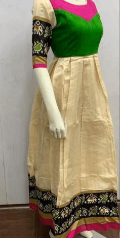 sari into anarkali dress