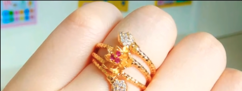Gold and Diamond Rings