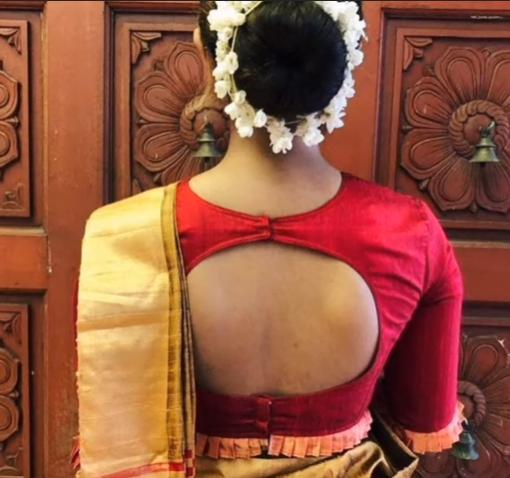 frill blouse neck designs