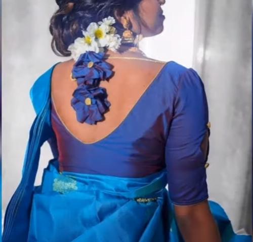 Bridal blouse back neck