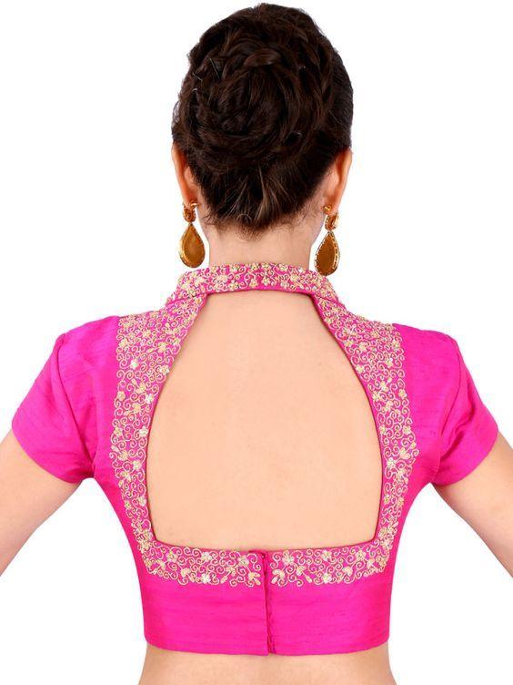 Trendy designer blouse design