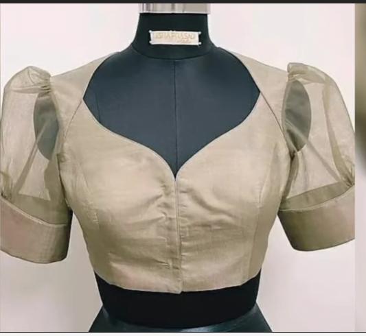 Latest boat neck blouse