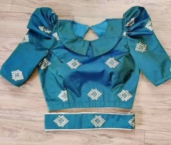 Boat neck blouse designs